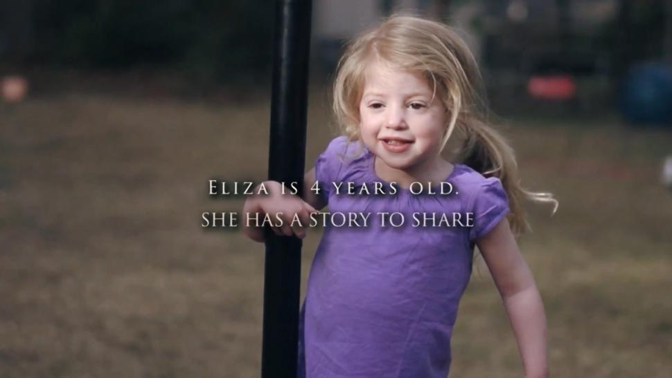 Eliza O'Neill has Sanfilippo Syndrome, a debilitating disease that will rob her of the ability to speak or walk.